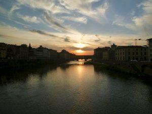 Coucher de soleil sur Ponte Vecchio
