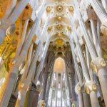 L'intérieur de la Sagrada Familia