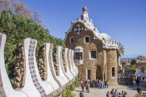 Maisonnée de Gaudi au parc Guell