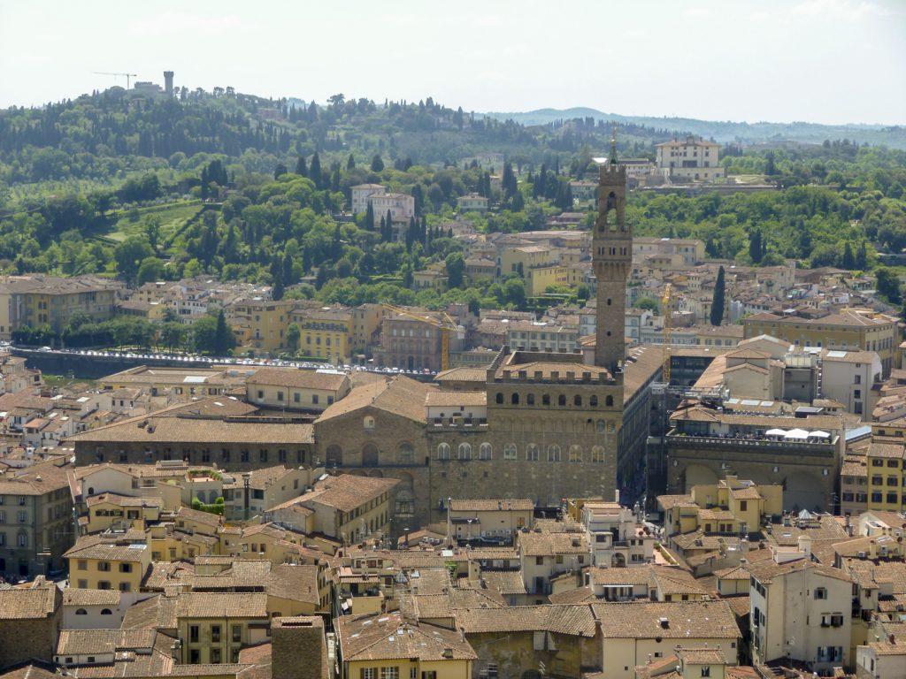 Palazzo Vecchio - vue depuis la coupole du Duomo