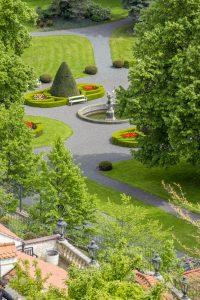 Vue sur jardin secret prague