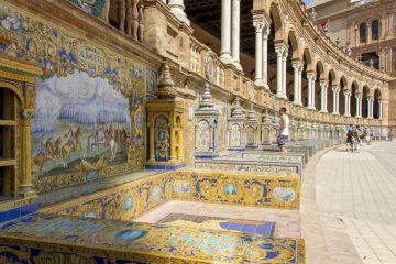 Mosaïques place d'Espagne