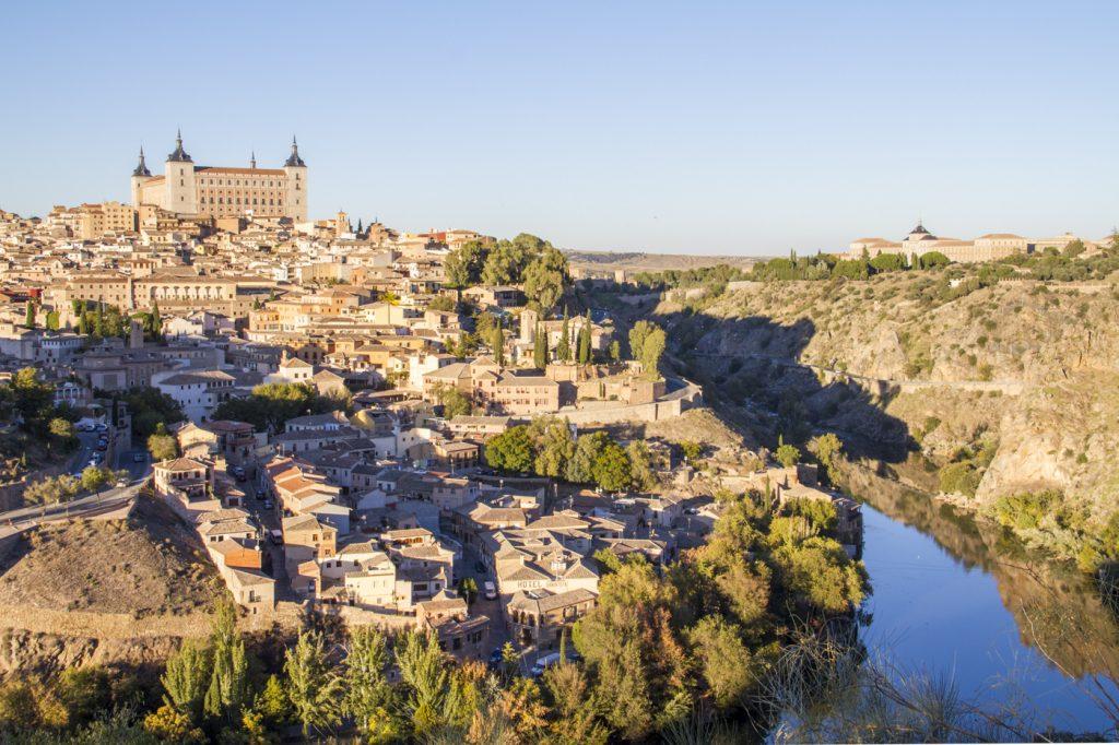 L'alcázar vu depuis le Mirador del Valle