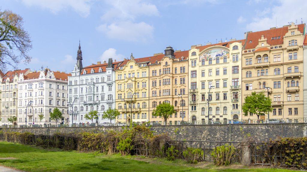 Maisons colorées à Nové Město