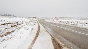 Neige sur la route d'Azrou