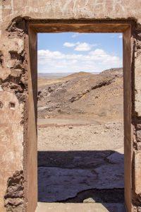Panorama depuis une porte