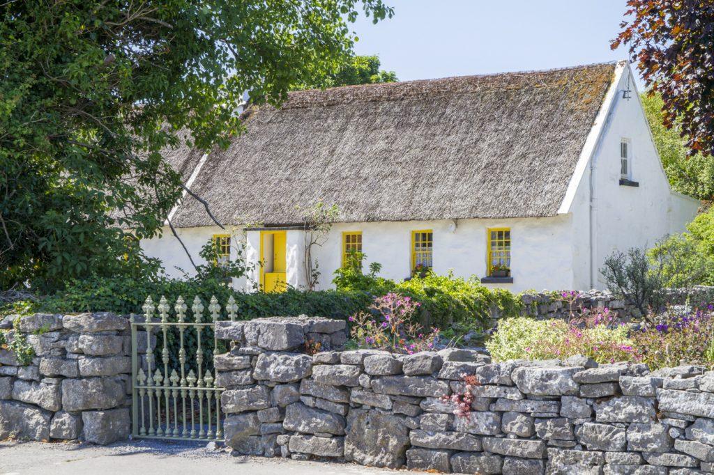 Maison en toit de chaume