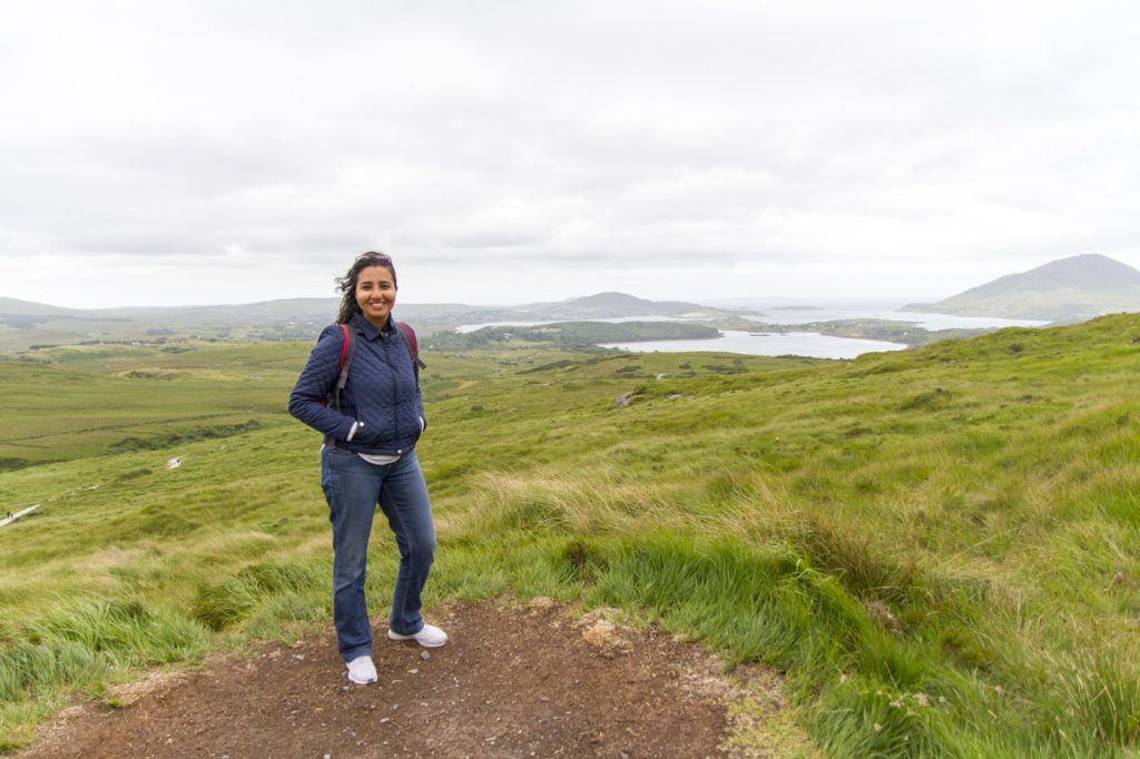 Moi au Parc National du Connemara