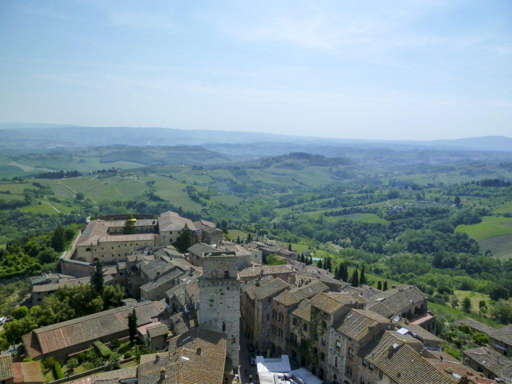 Vue sur San Gimignano et ses alentours