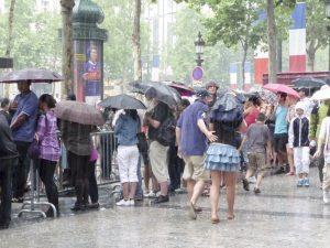 Averses à Paris pendant le 14 juillet