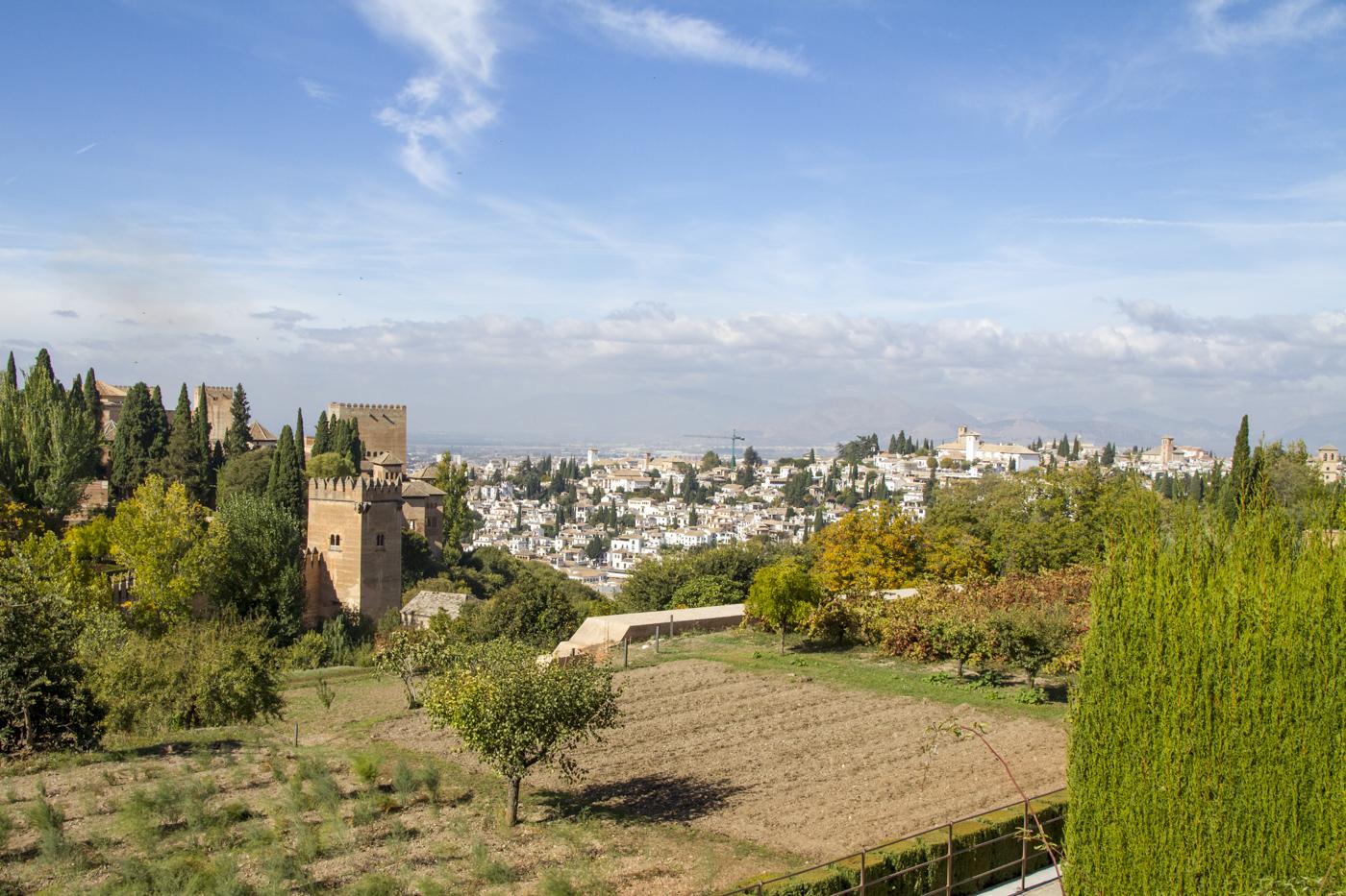 L'Albaycin vu depuis l'Alhambra