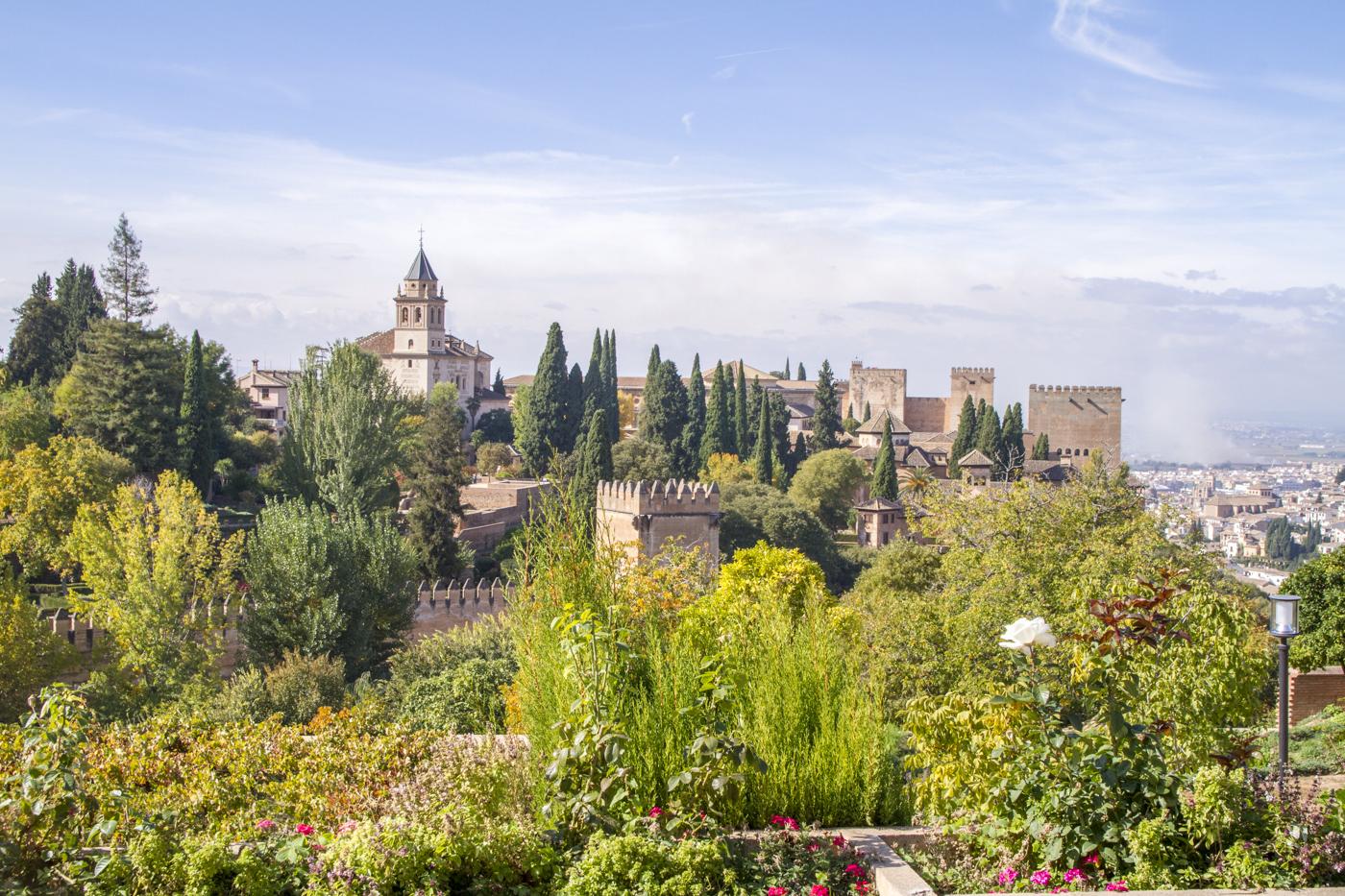 Vue depuis les jardins du Generalife