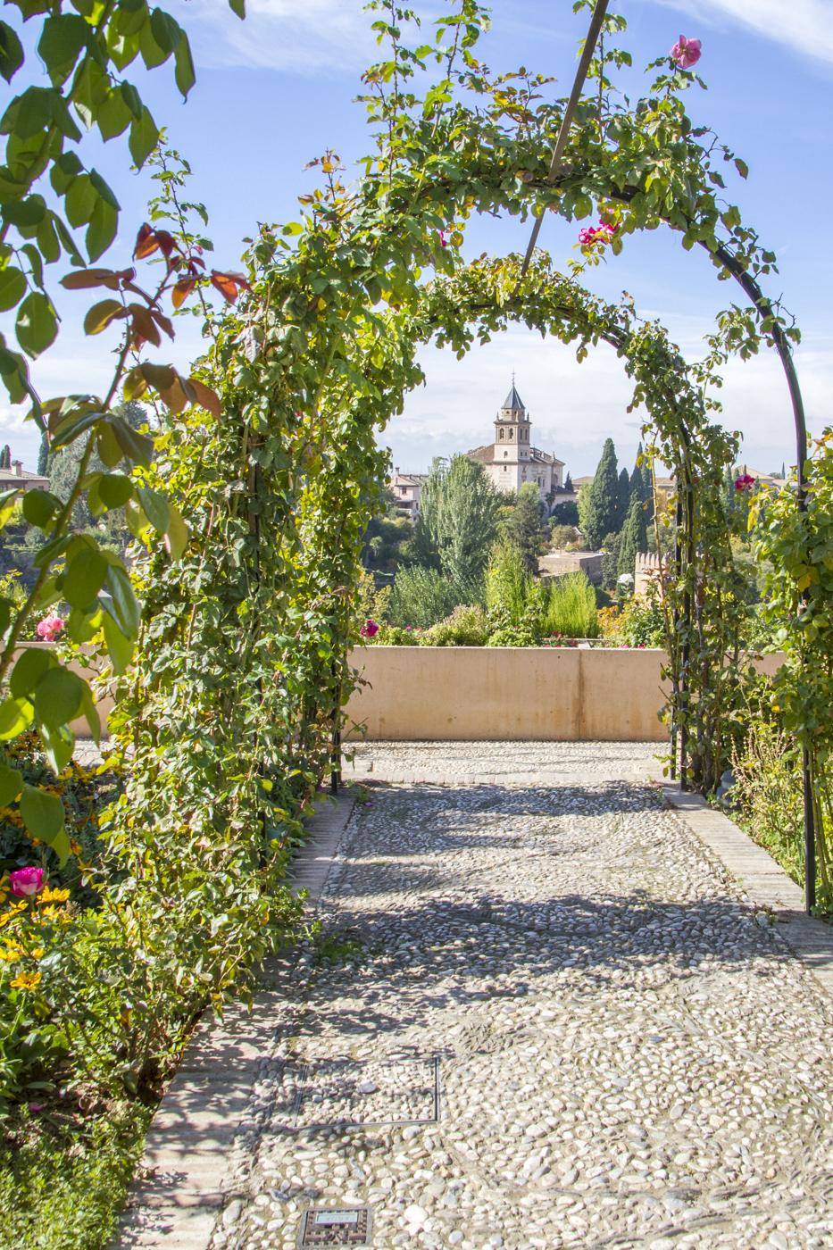 Dans les jardins du Generalife