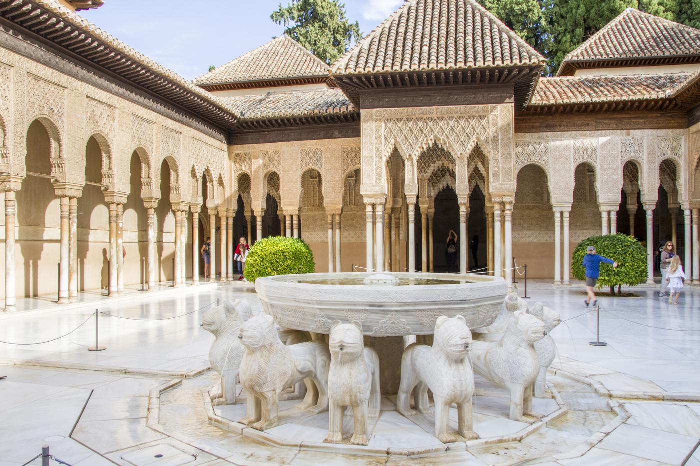 Cour des lions des palais Nasrides